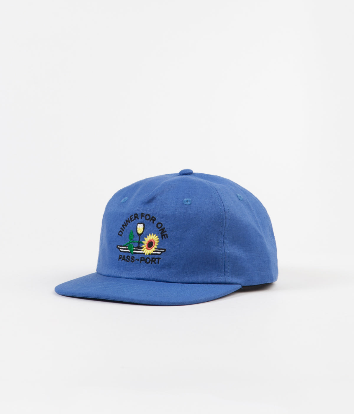 Pass Port Dinner For One 5 Panel Cap - Blue