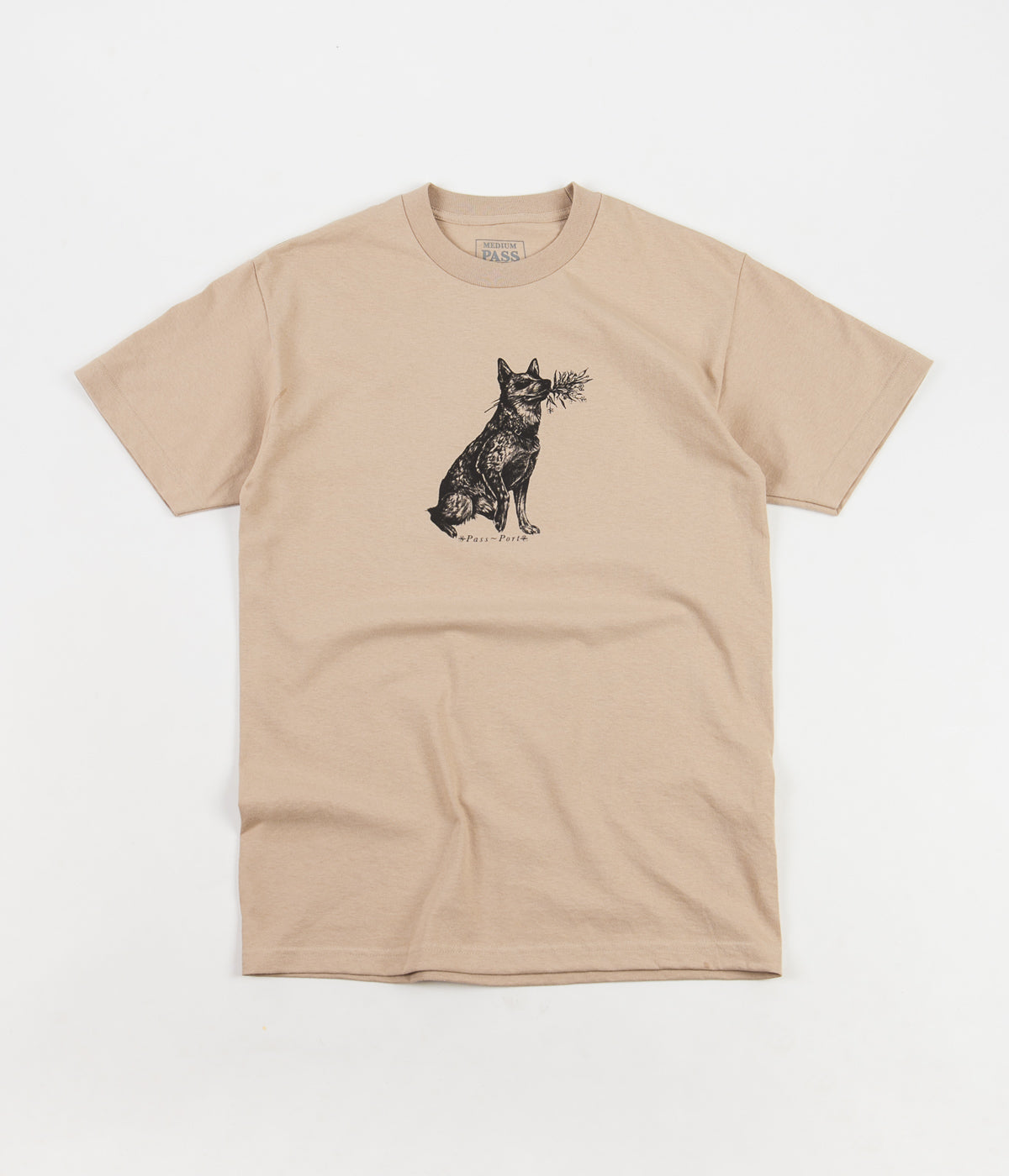 Pass Port Doggo T-Shirt - Sand