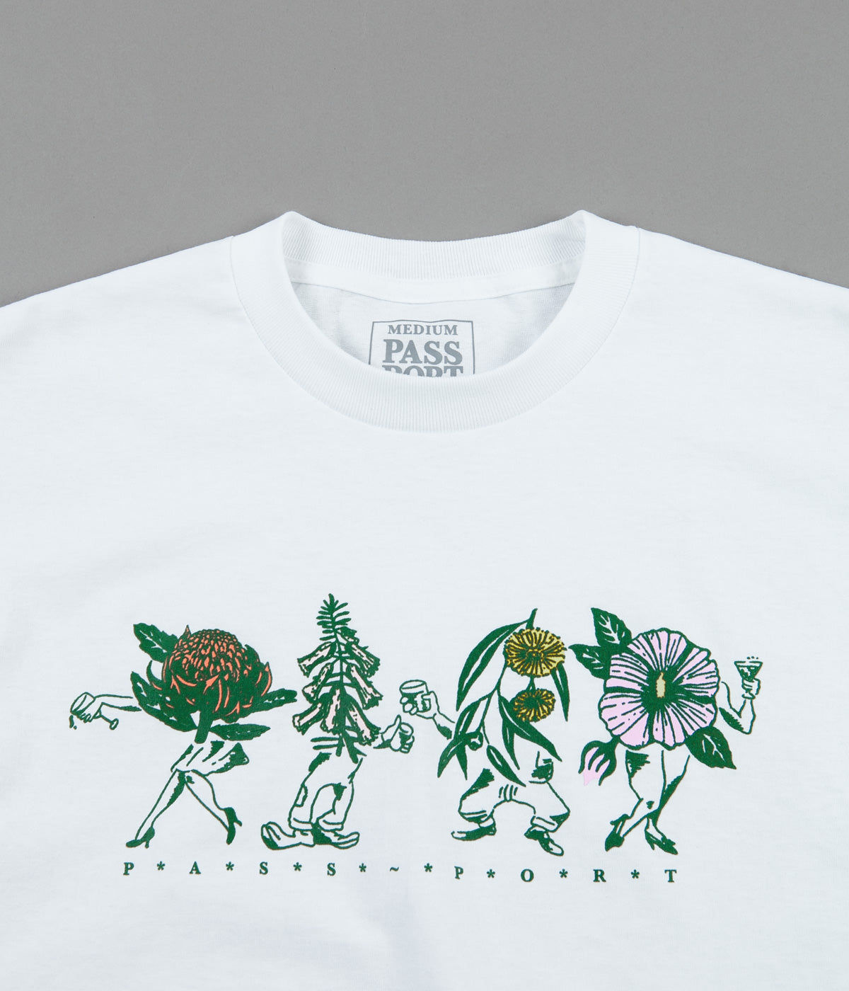 Pass Port Floral Friends T-Shirt - White