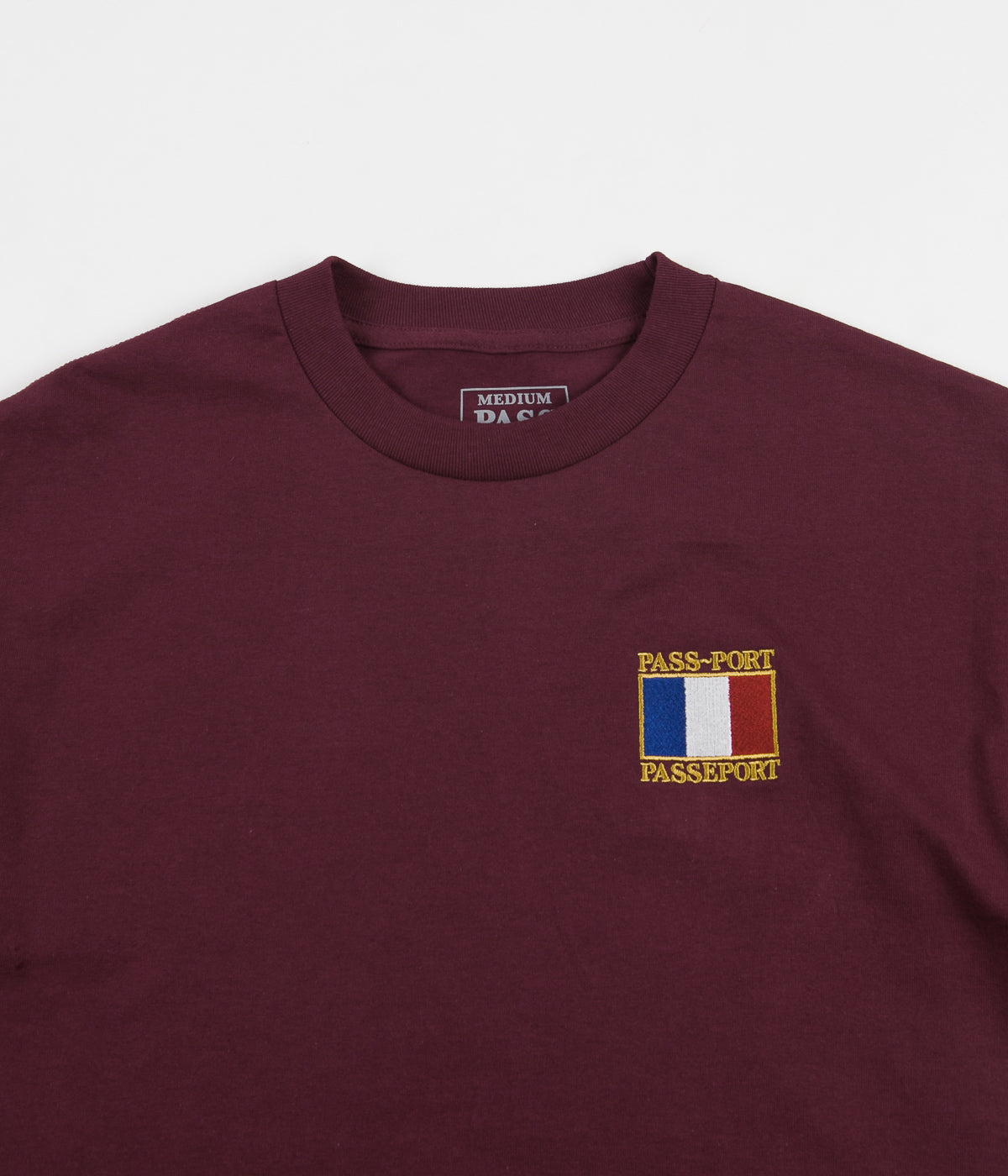 Pass Port France T-Shirt - Burgundy