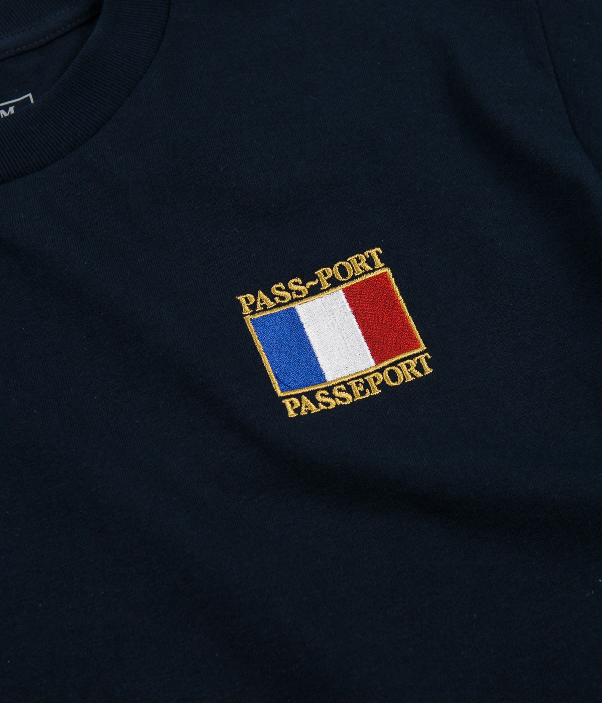 Pass Port France T-Shirt - Navy