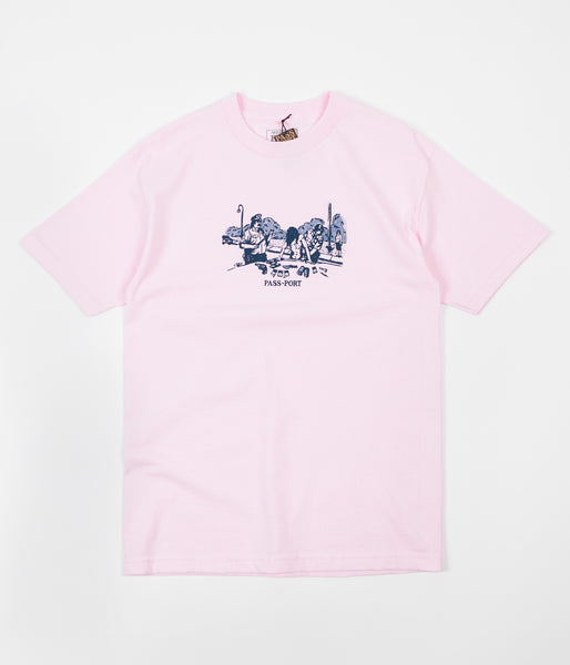 Pass Port Frisk Down T-Shirt - Pink