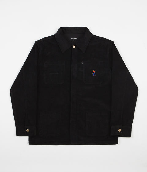 Pass Port Full Time Painters Cord Jacket - Black
