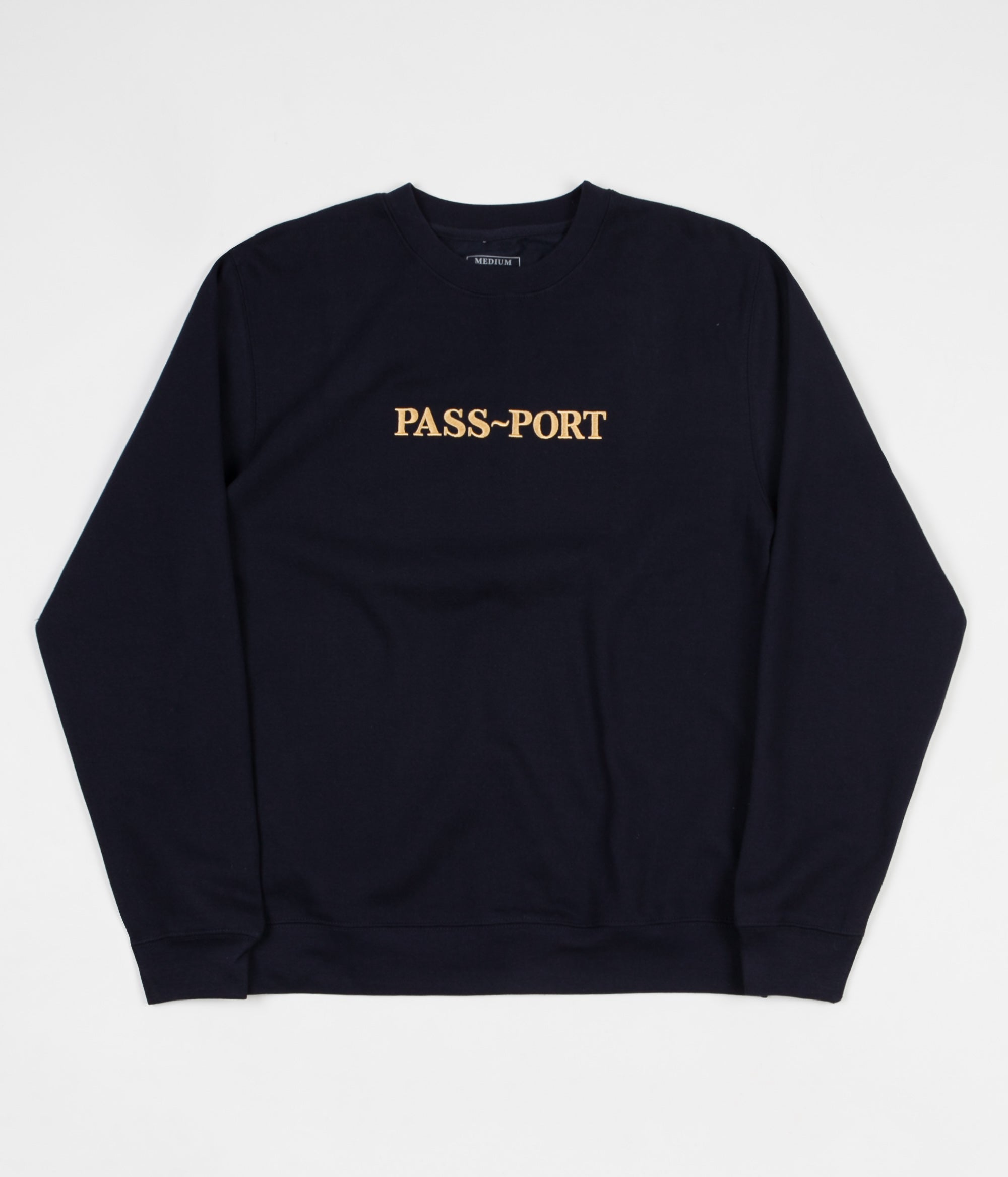 Pass Port Gold Official Embroidered Crewneck Sweatshirt - Navy