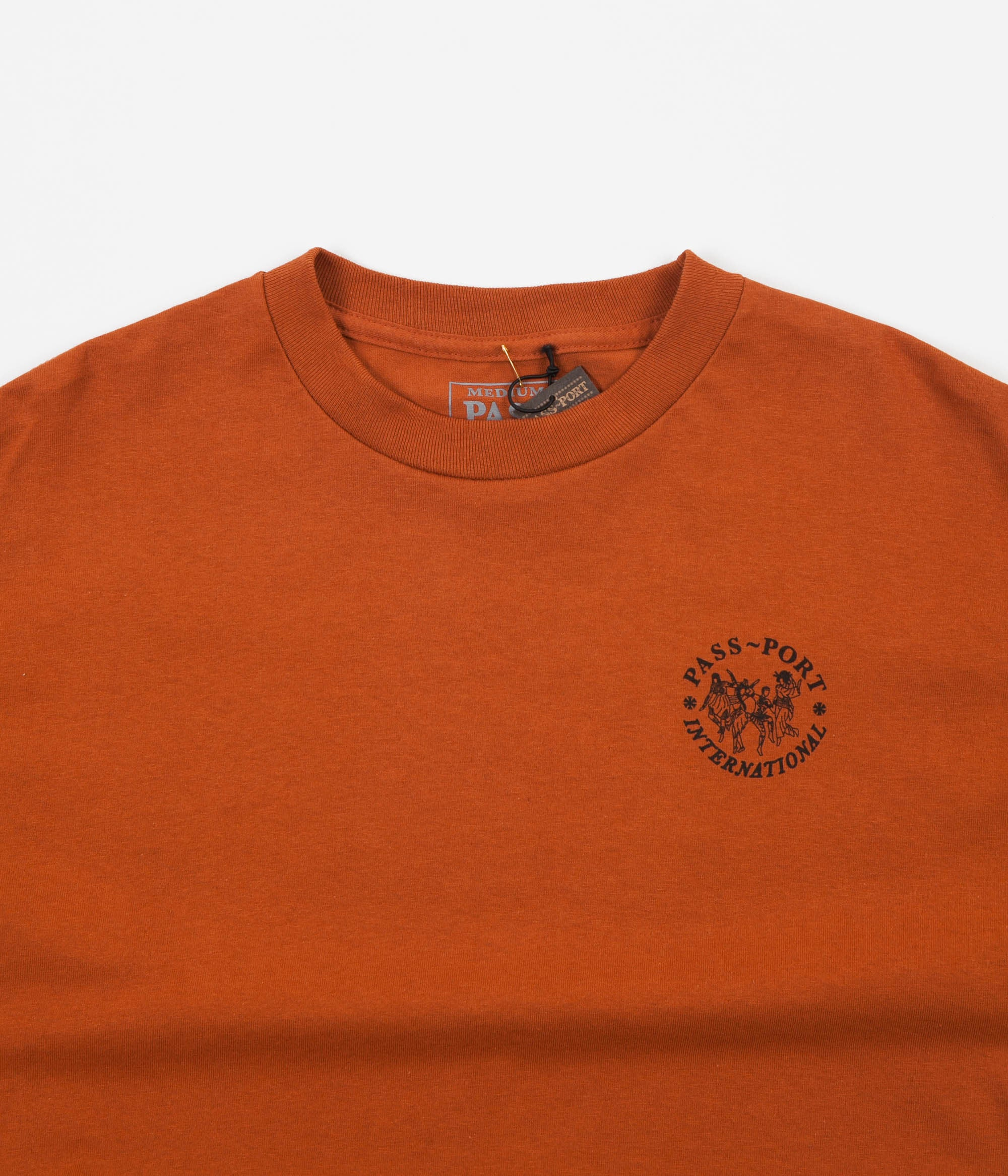 Pass Port International Ladies Long Sleeve T-Shirt - Orange