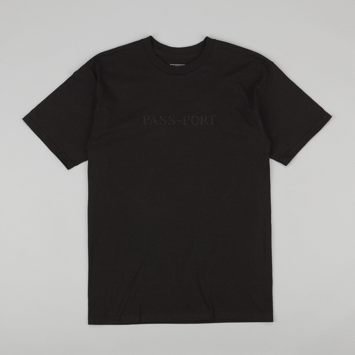 Pass Port Official Embroidery T-Shirt - Black