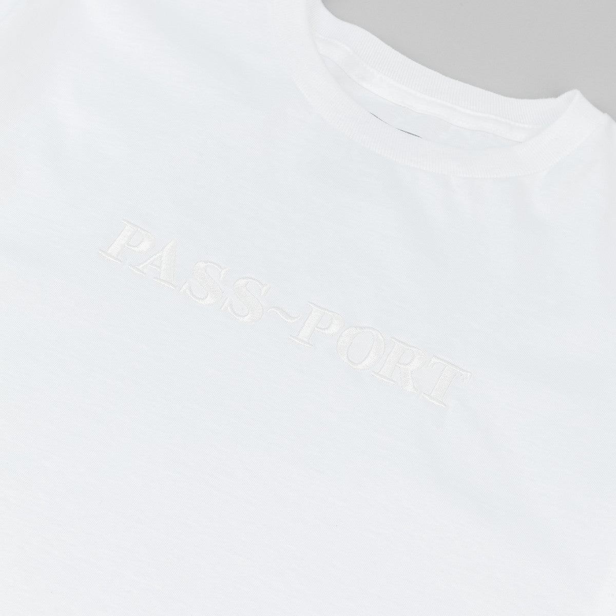 Pass Port Official Embroidery T-Shirt - White