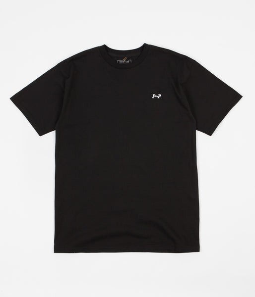 Pass Port P~P Raised T-Shirt - Black