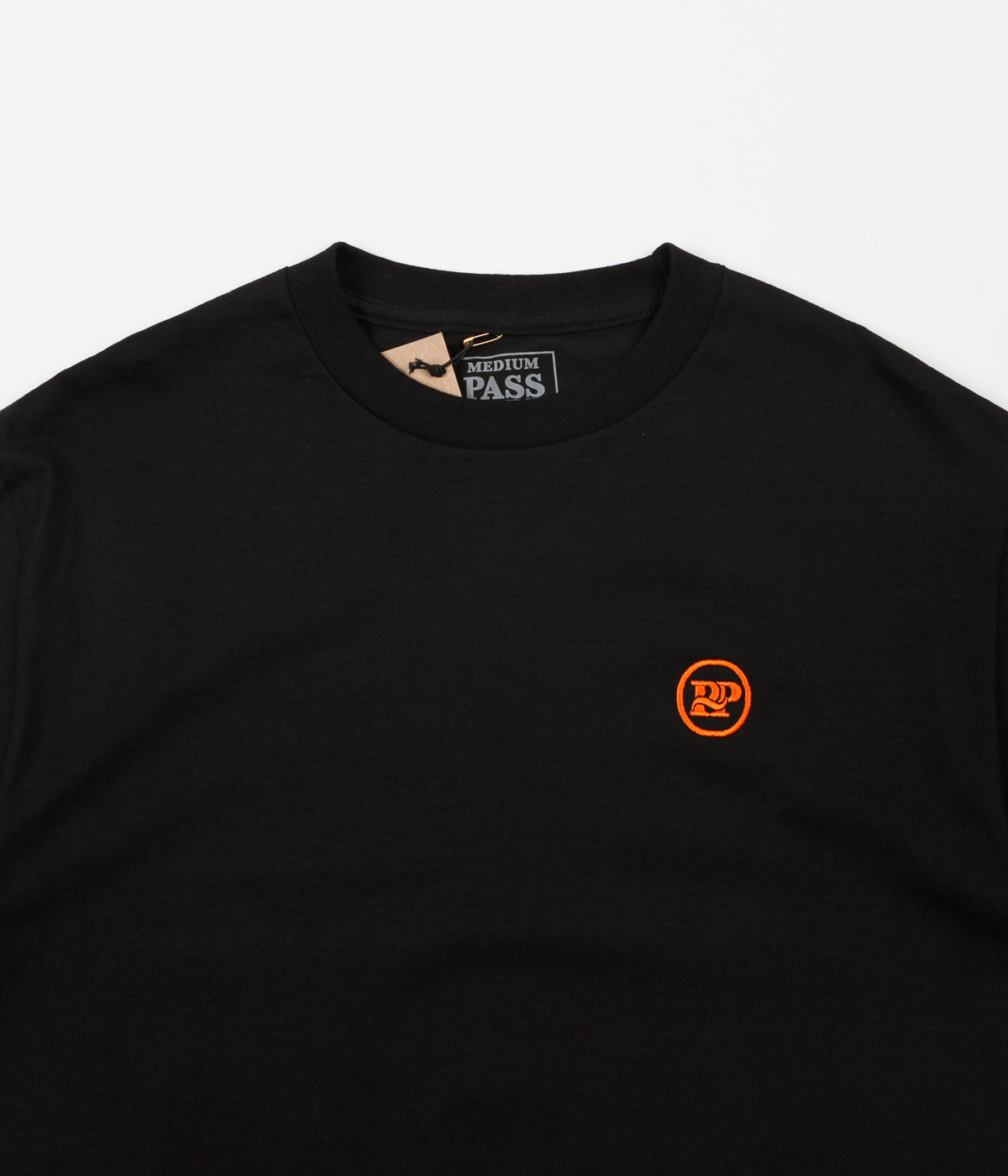 Pass Port P~P Works Embroidered T-Shirt - Black