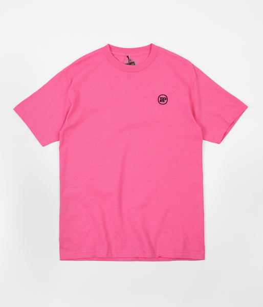 Pass Port P~P Works Embroidered T-Shirt - Hot Pink