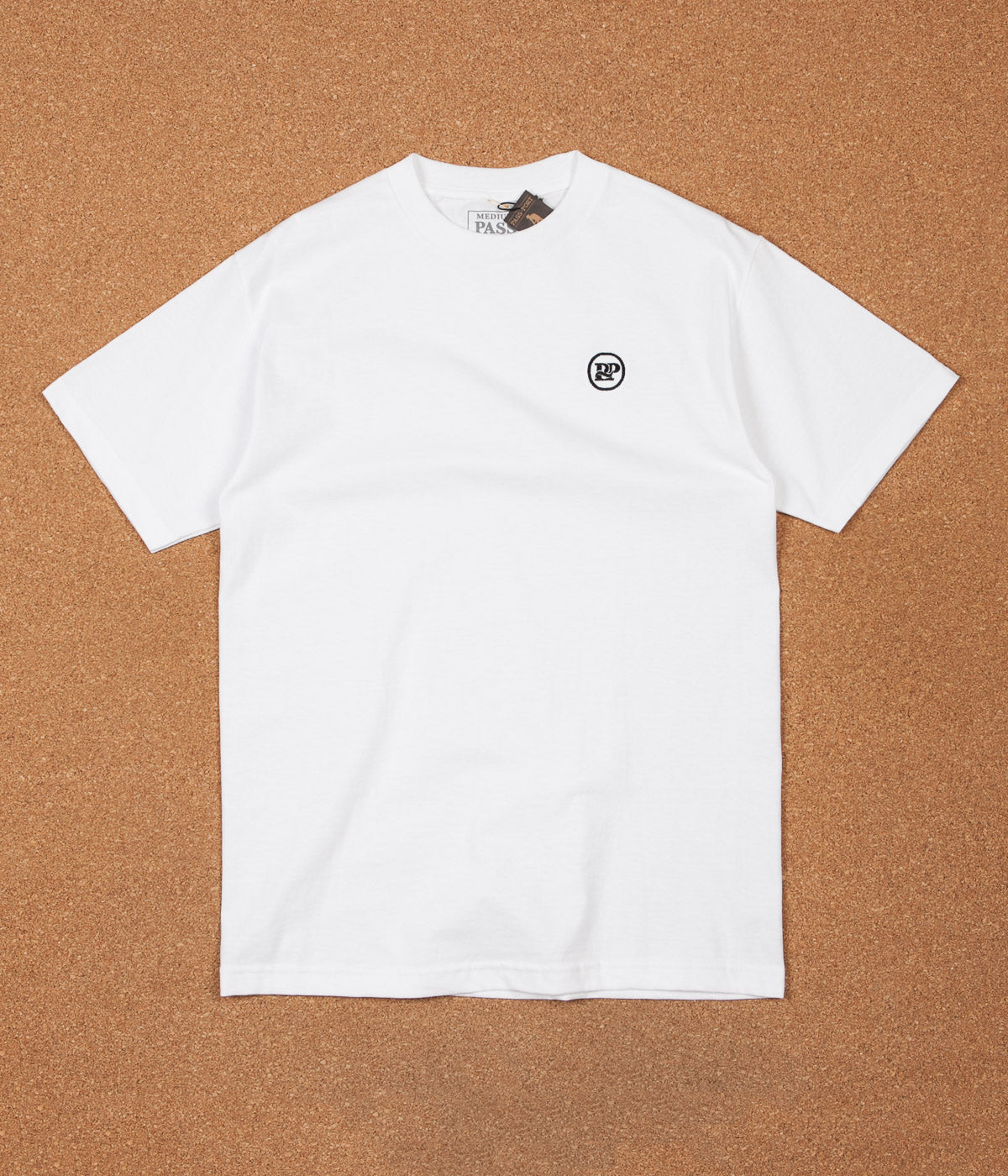 Pass Port P~P Works Embroidered T-Shirt - White
