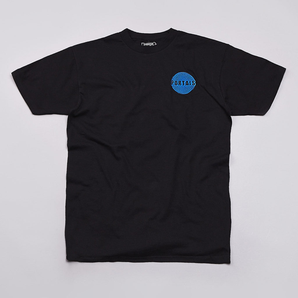 Pass Port Portals T Shirt Black / Blue
