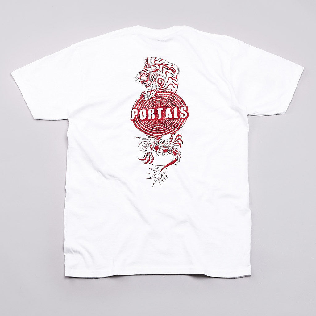 Pass Port Portals T Shirt White / Red