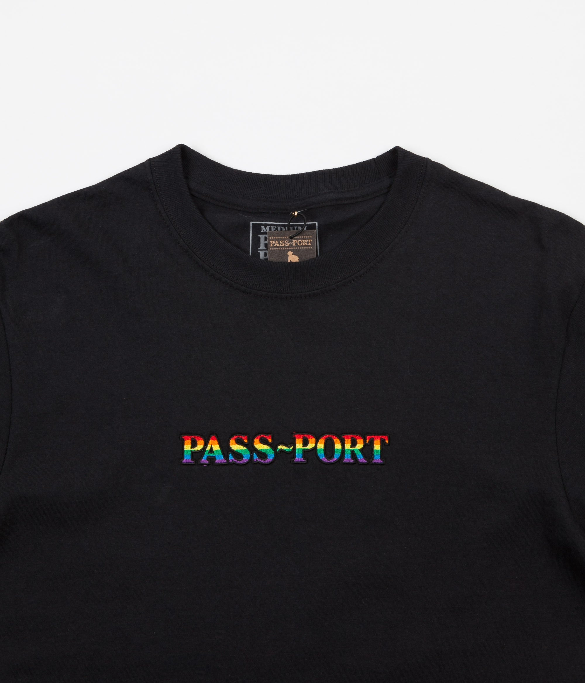 Pass Port Pride Long Sleeve T-Shirt - Black