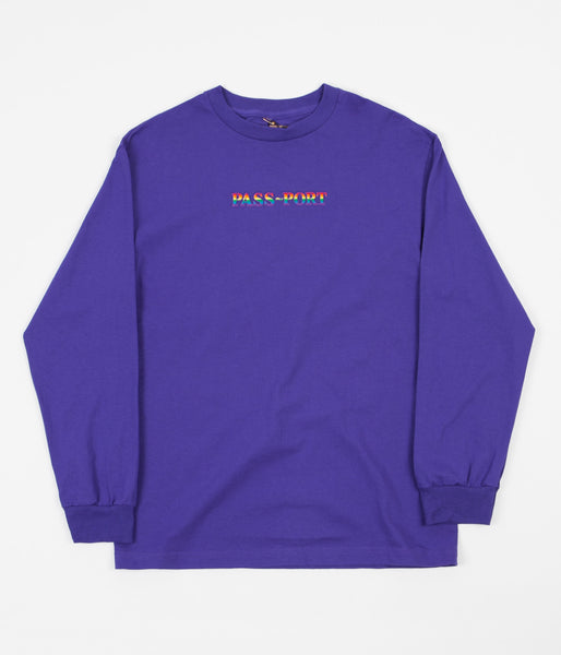 Pass Port Pride Long Sleeve T-Shirt - Purple