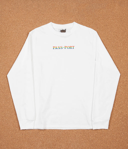 Pass Port Pride Long Sleeve T-Shirt - White