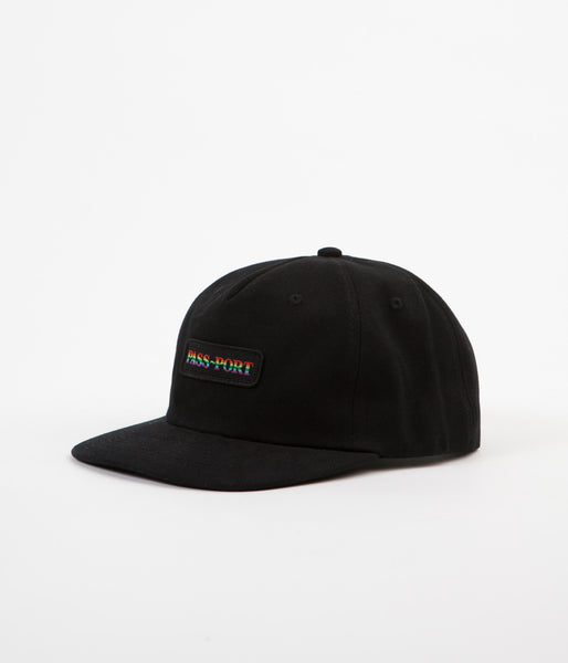 Pass Port Pride Official 5 Panel Cap - Black