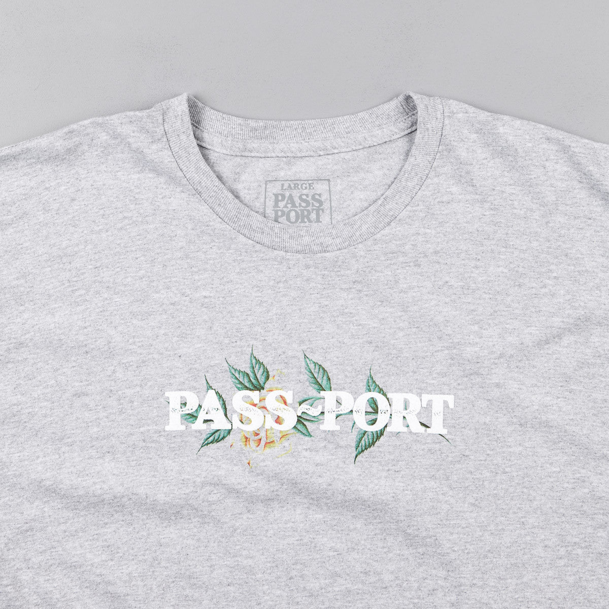 "Pass Port Rosa Official ""Puff Ink"" T-Shirt - Heather Grey"