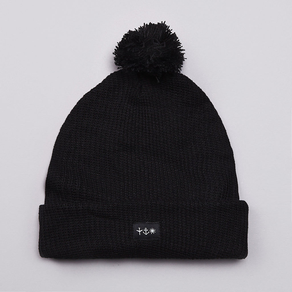 Pass Port S.A.S Pom Pom Beanie Black