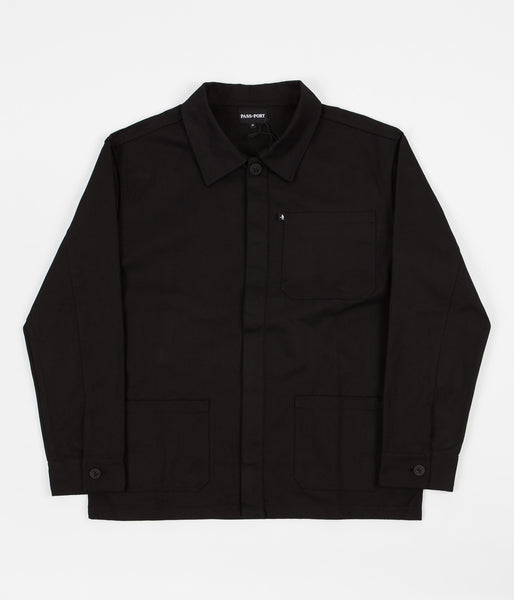 Pass Port Worker's Paint Jacket - Black