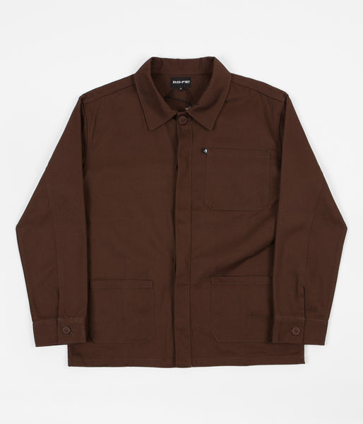 Pass Port Worker's Paint Jacket - Chocolate