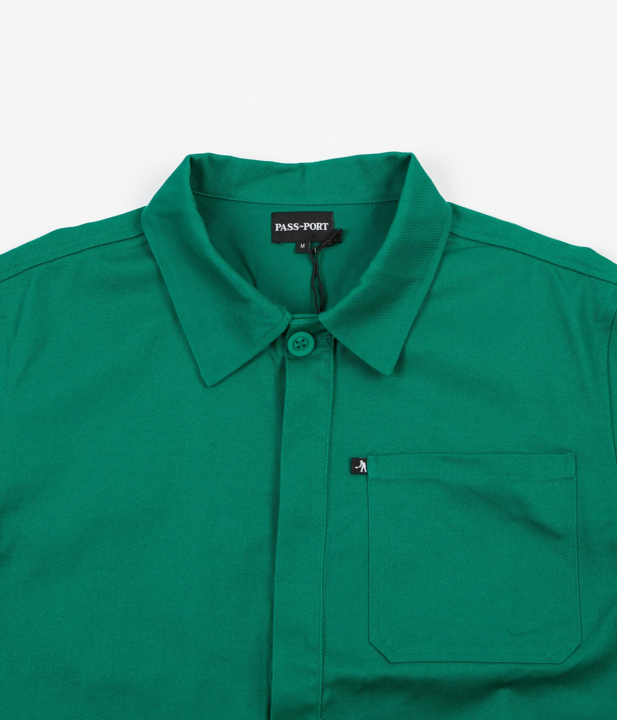 Pass Port Worker's Paint Jacket - Green