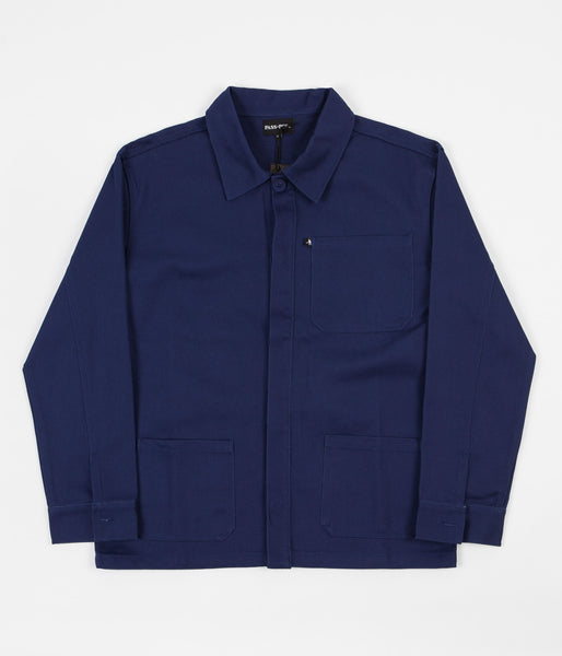 Pass Port Worker's Paint Jacket - Navy