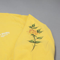 "Pass Port Rosa Official ""Puff Ink"" Long Sleeve T-Shirt - Yellow"