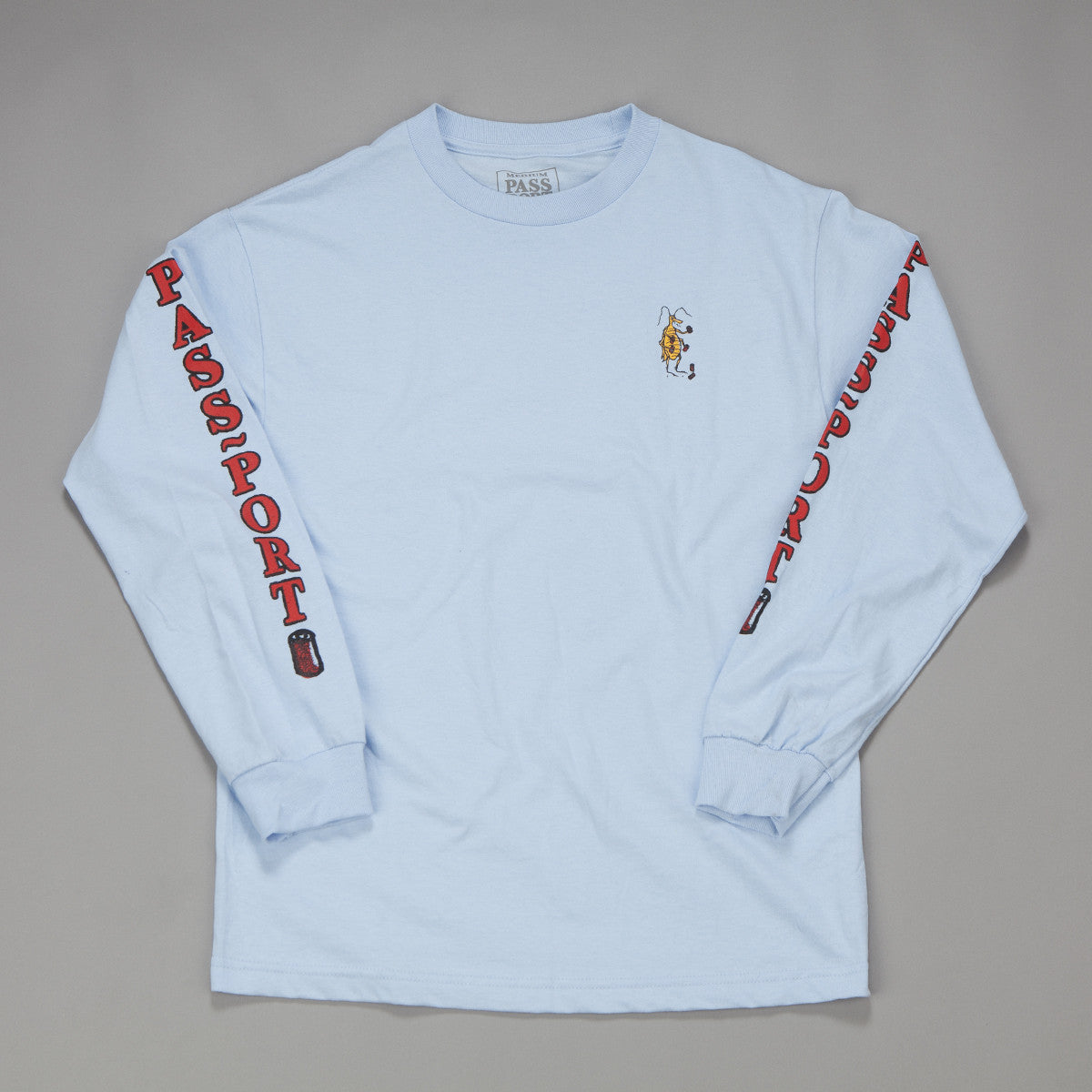Pass Port Roach Cans Long Sleeve T-Shirt - Blue