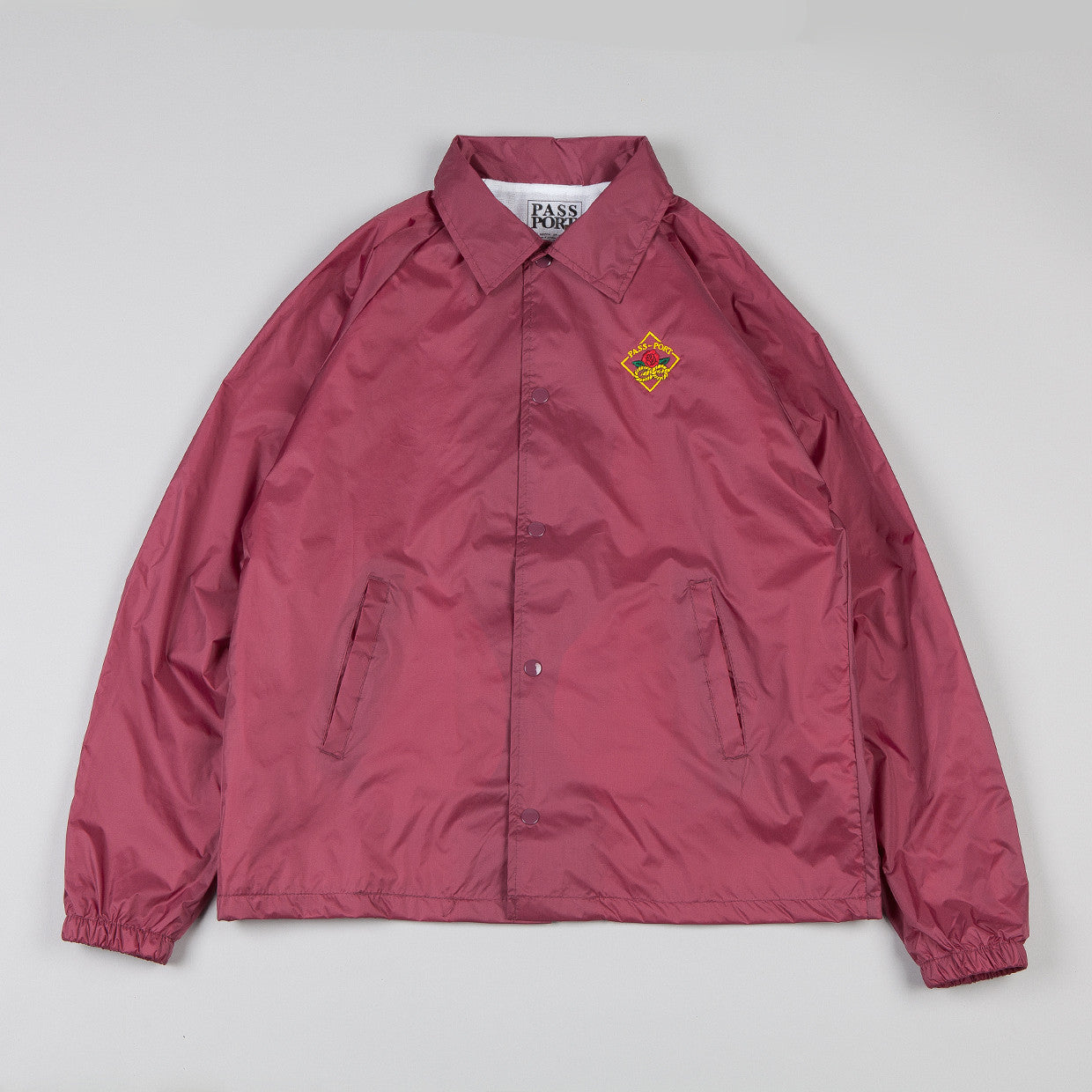 Pass Port Community Rose Coach Jacket Burgundy