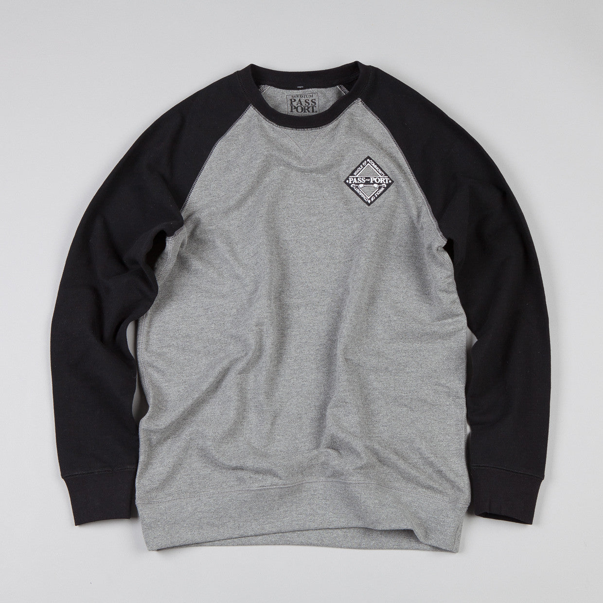 Pass Port Whole Community Crew neck Sweatshirt Black / Heather