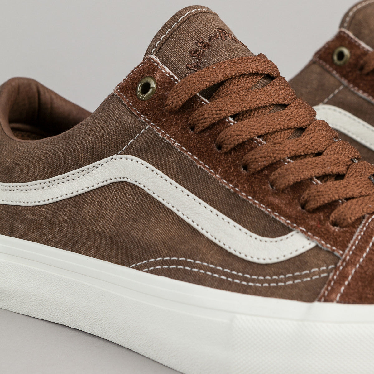 Vans x Pass Port Old Skool Pro Shoes - Brown