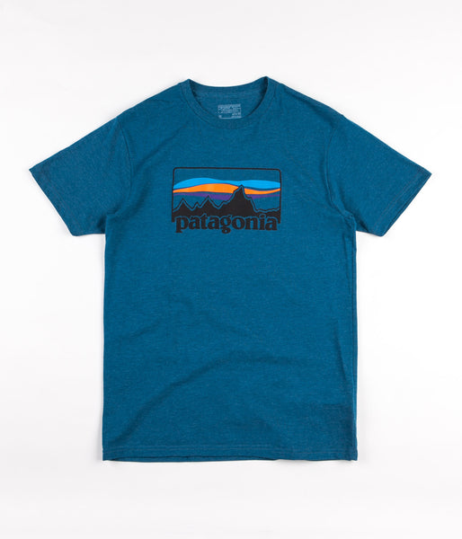 Patagonia '73 Logo T-Shirt - Big Sur Blue