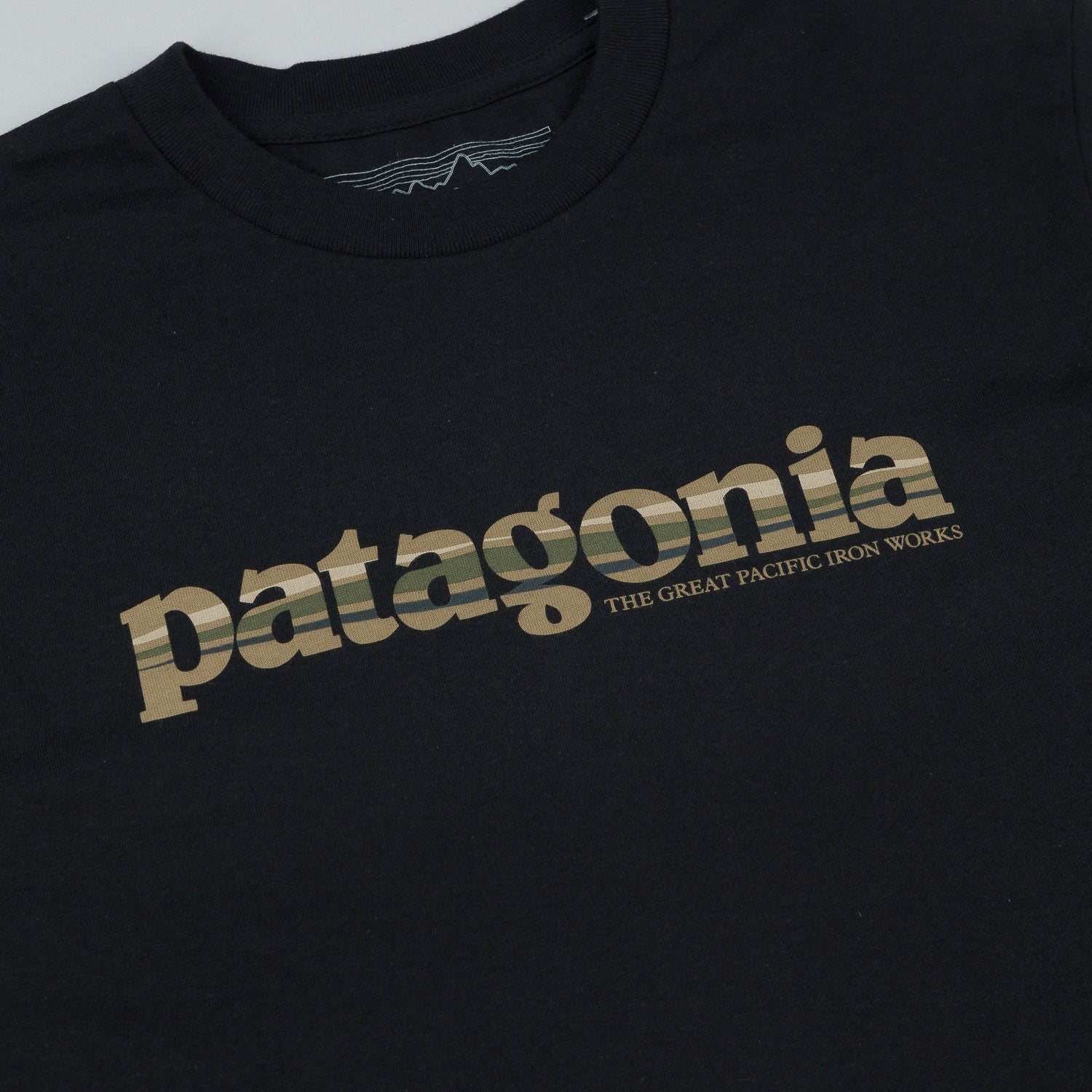 Patagonia '73 Text Logo T-Shirt - Black