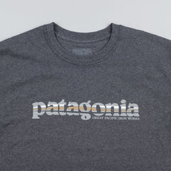 Patagonia '73 Text Logo T-Shirt - Forge Grey