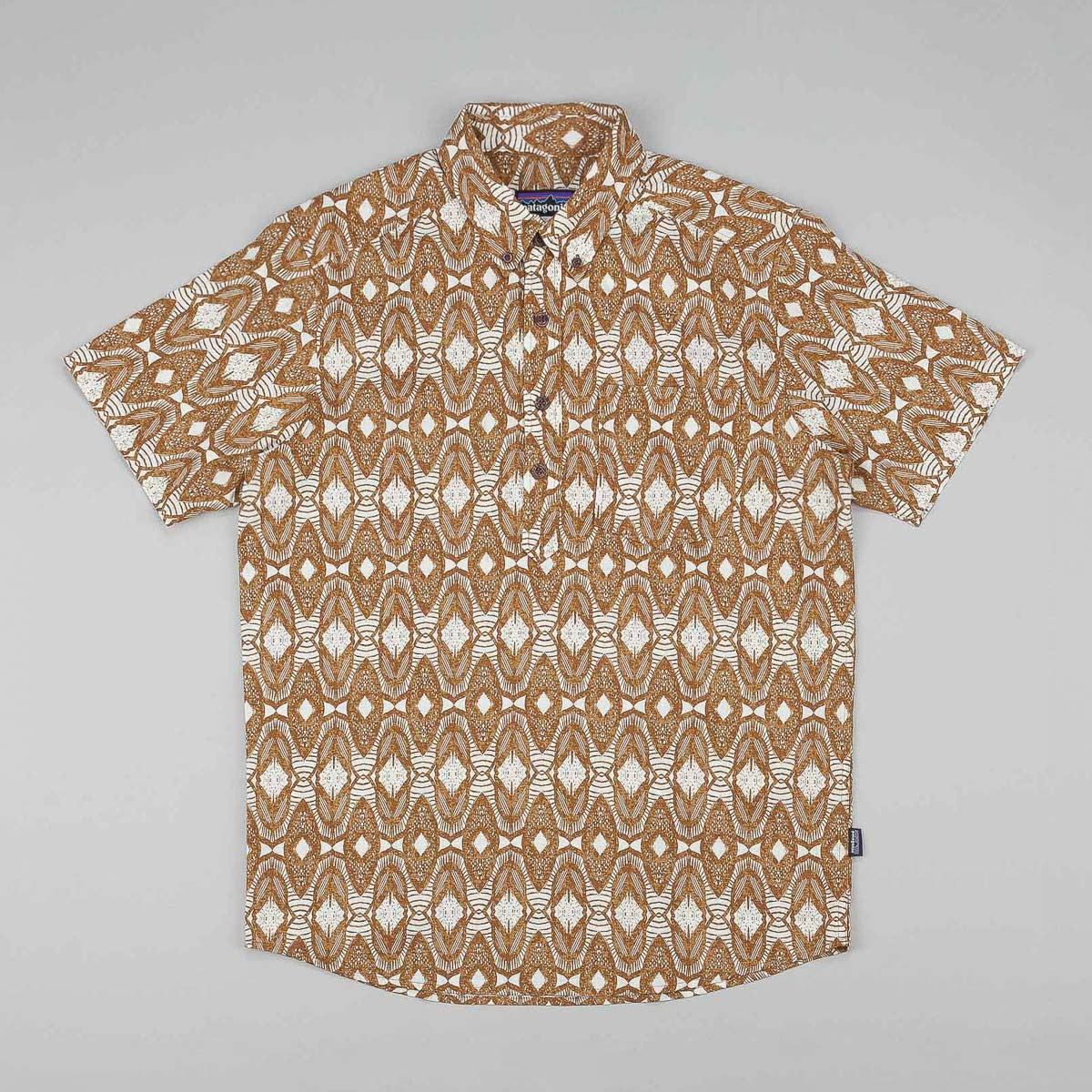 Patagonia Back Step Pullover Short Sleeve Shirt - Seeds: Bear Brown