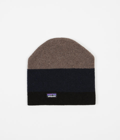 Patagonia Backslide Beanie - Sediment Stripe / Black