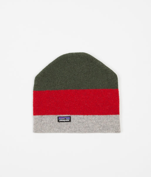 Patagonia Backslide Beanie - Sediment Stripe / Drifter Grey