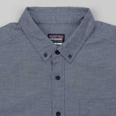 Patagonia Bluffside Short Sleeve Shirt - Chambray: Navy Blue