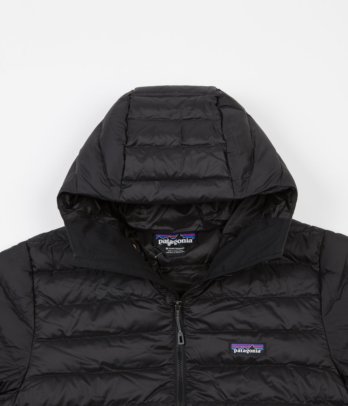 Patagonia Down Sweater Hooded Jacket Black Flatspot