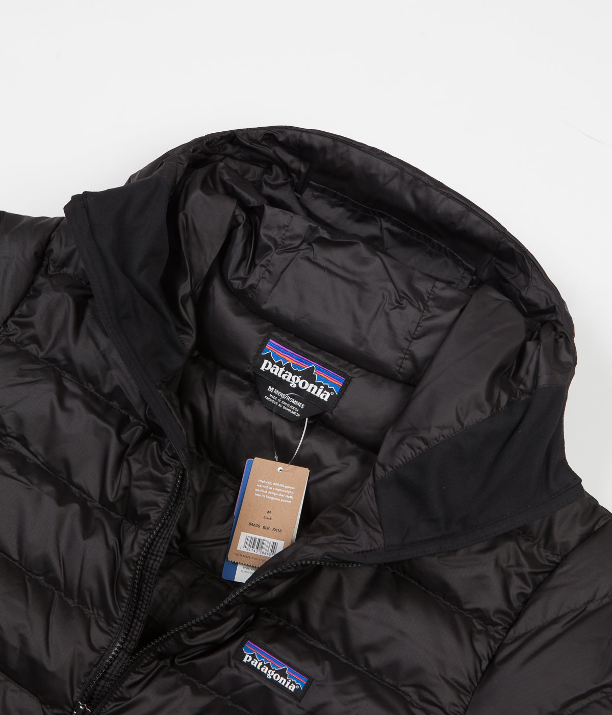 Patagonia Down Sweater Hooded Pullover Jacket - Black