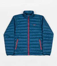Patagonia Down Sweater Jacket - Big Sur Blue / Fire Red