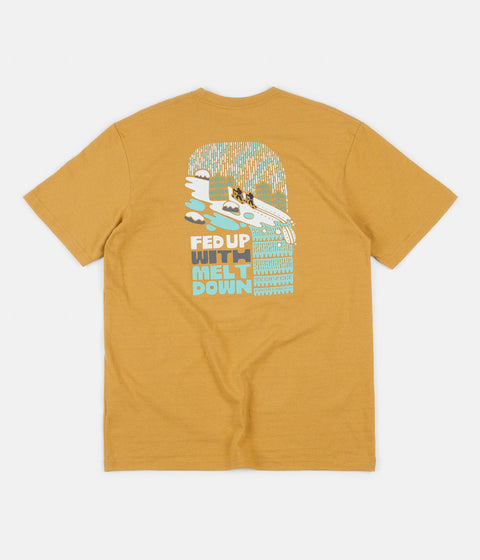 Patagonia Fed Up With Melt Down Responsibili-Tee T-Shirt - Glyph Gold