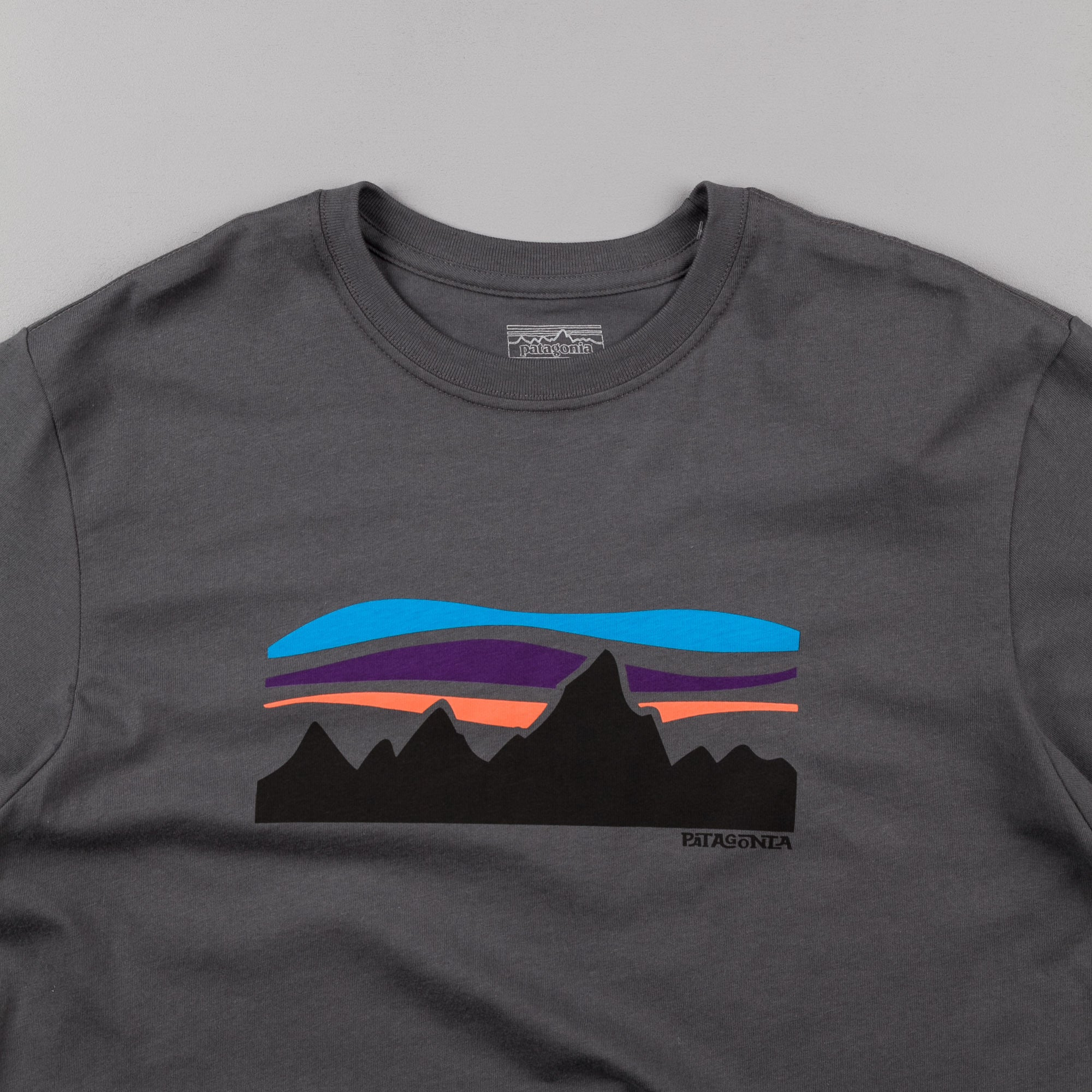Patagonia Fitz Roy Banner T-Shirt - Forge Grey