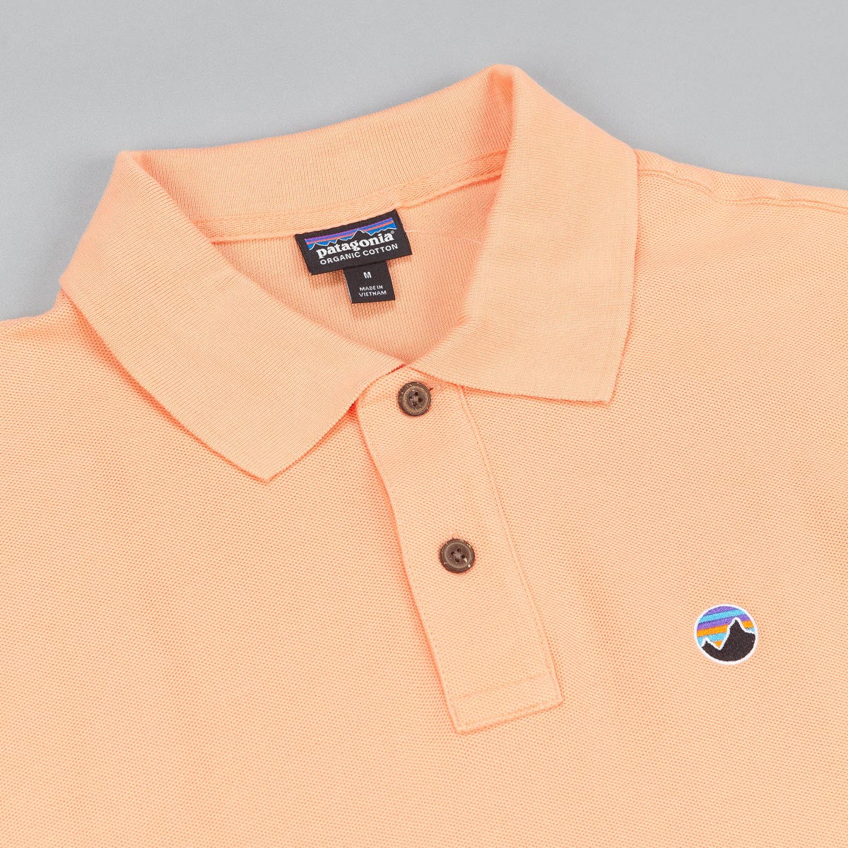 Patagonia Fitz Roy Emblem Polo Shirt - Lite Cusco Orange
