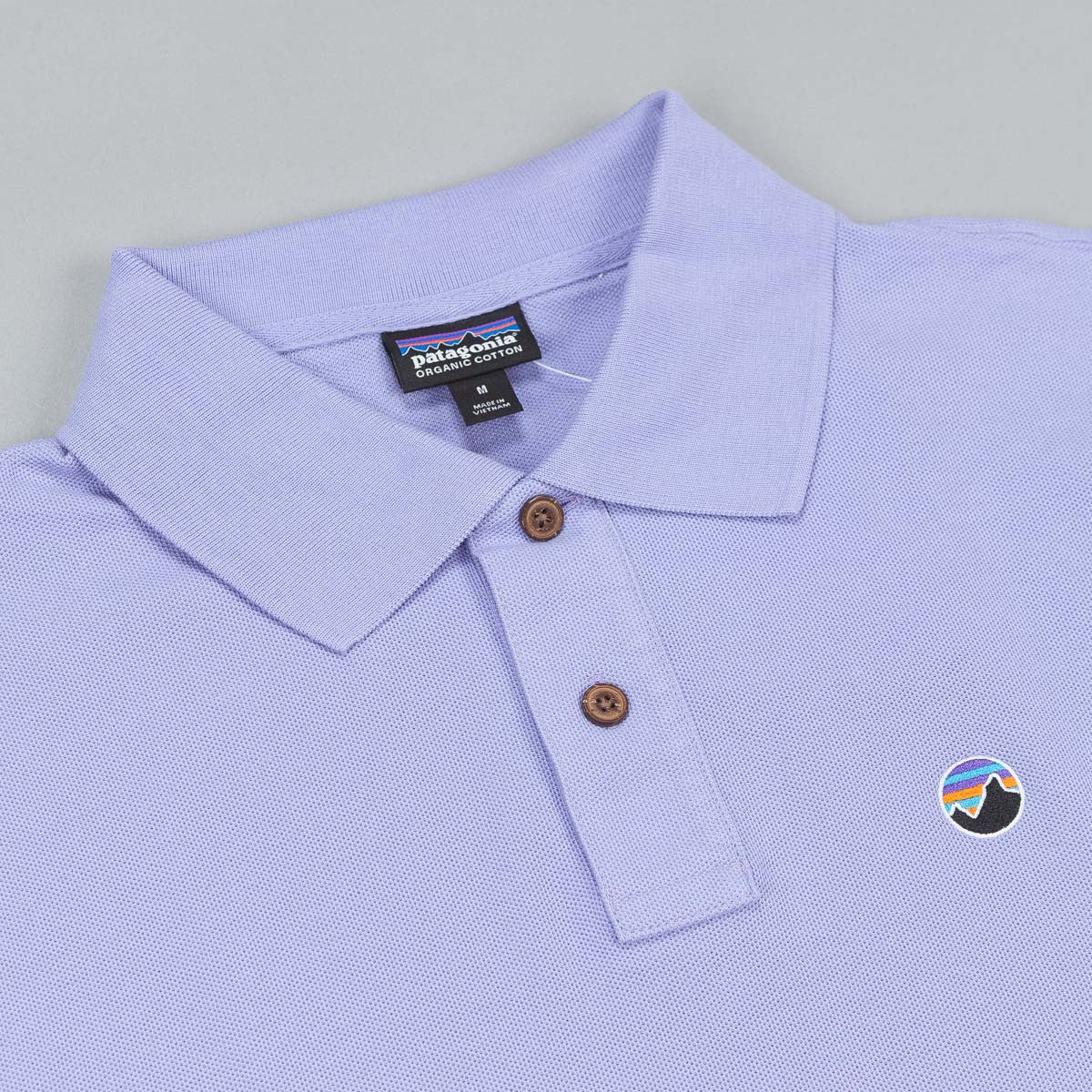 Patagonia Fitz Roy Emblem Polo Shirt - Ploy Purple