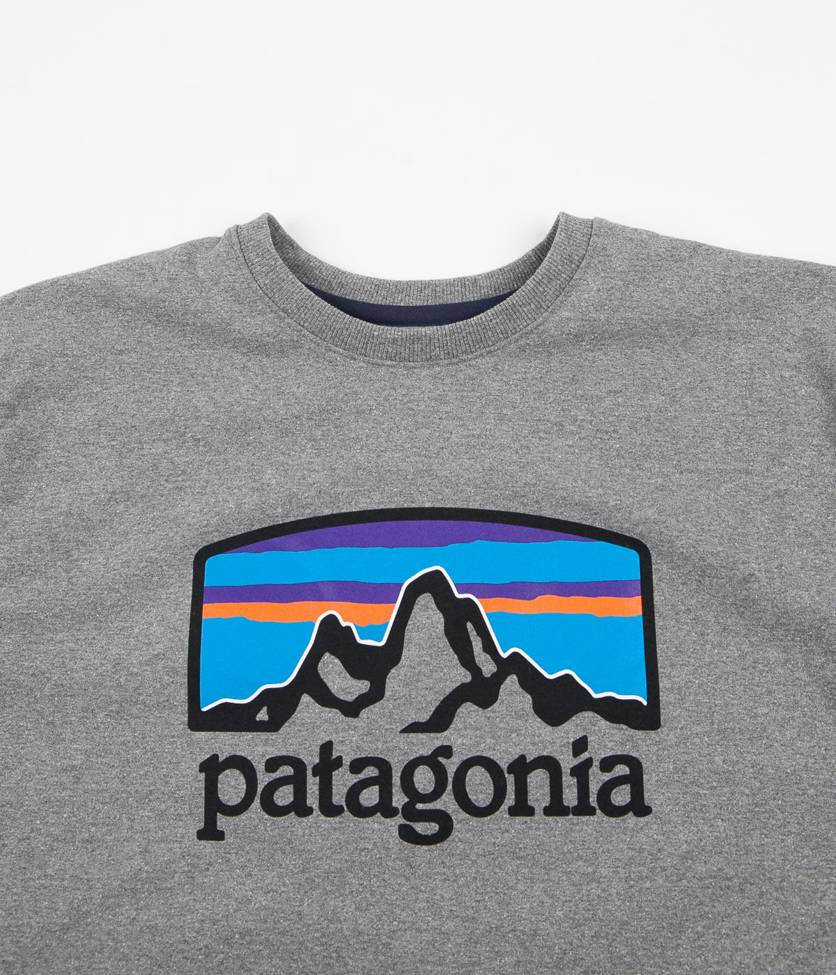 Patagonia Fitz Roy Horizons Uprisal Crewneck Sweatshirt - Gravel Heather