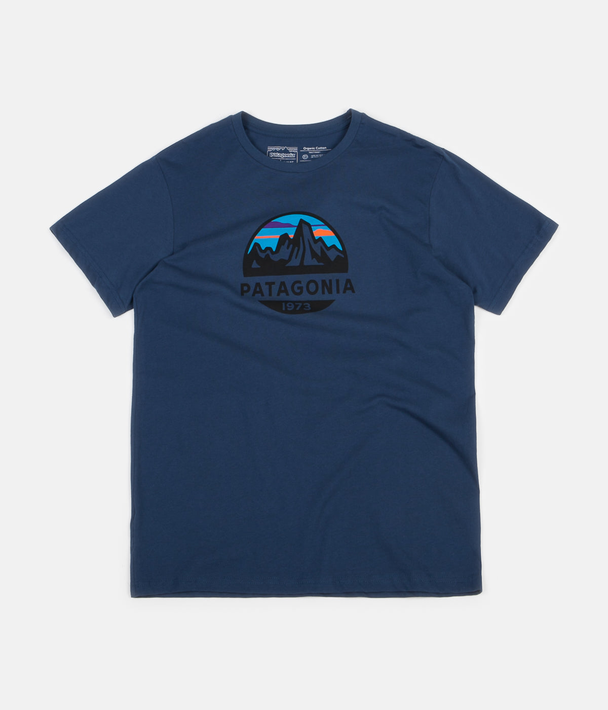 Patagonia Fitz Roy Scope Organic T-Shirt - Stone Blue
