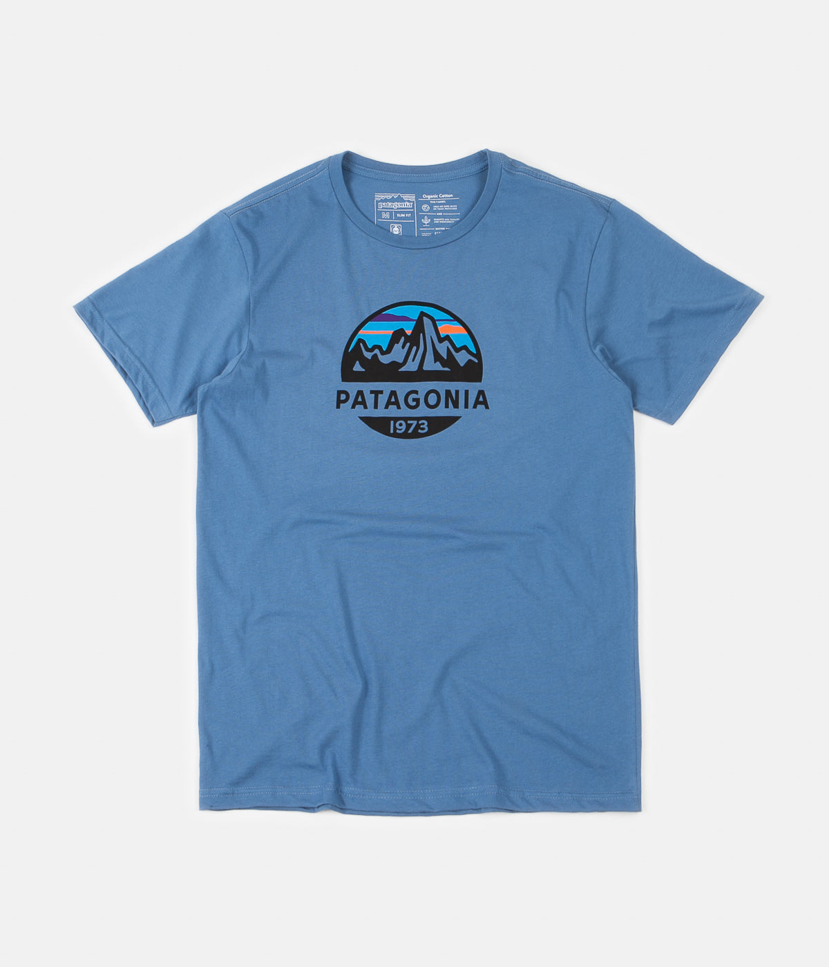 Patagonia Fitz Roy Scope Organic T-Shirt - Woolly Blue