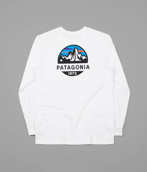 Patagonia Fitz Roy Scope Responsibili-Tee Long Sleeve T-Shirt - White